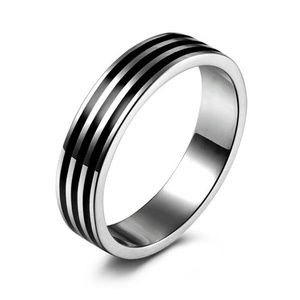 Men&Women Stainless Steel Titanium Band Ring